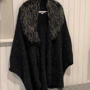 Loft fur colored poncho